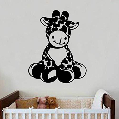 yaonuli baby giraffe muursticker kinderkamer decoratie vinyl sticker cartoon schattige muurschildering