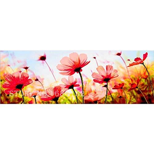 Yolada Diamant Malerei,Malen nach Zahlen,Groß,Voll Bohrer, Embroidery Poppy Flower 5D DIY Picture Rhinestone Diamond Painting Mosaic Arts Craft für Home Dekor,Rund Bohrer,60x120cm