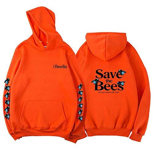 AOSHE Bees Hooded Sweater Hombres Mujeres Street HoodieSudadera Hombre Hipster Gym Manga Larga Cordón con Capucha