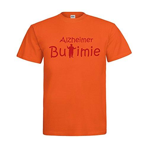 MDMA T-Shirt Alzheimer Bulimie N14-mdma-t00351-300 Textil orange / Motiv rot Gr. XXL