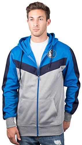 UNK NBA - Sudadera con capucha y cremallera completa para hombre, en contraste de colores, con logotipo de equipo. - GZM2948F-DM-Small, S, Azul Oscuro