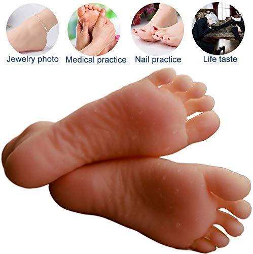 Silikon-Kinder-Fuß-Modell-Shop-Display Schuhe und Socken Simulationsmodell Kunst Skizze und Nägel Liebe Füße Sammlung -1 Paare,Skeletonversion