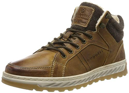bugatti Herren 321794513200 Hohe Sneaker, Braun, 45 EU