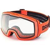 Briko Kili 7.6 Photo Máscara de esquí/Snow, Adultos Unisex, Orange Fluor-Fotocromática Cat. 1-3, Talla única