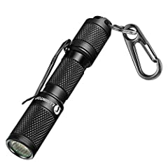 [Super Bright] Powered by a convenient and widely available single AAA battery you can find everywhere producing an output of 130 lumens, which is plenty of light for three people to walk safely back in the dark. [Nice beam and accurate lumens] The T...