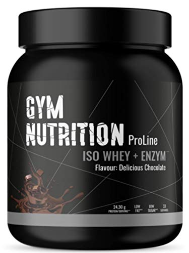 ENHANCED WHEY ISOLATE PULVER 1Kg - Ohne Zucker, LOW-CARB und LOW-FAT - 100% Whey Protein Isolate + Verdauungsenzym Bromelain - Beim Muskel-Aufbau - CHOCOLATE