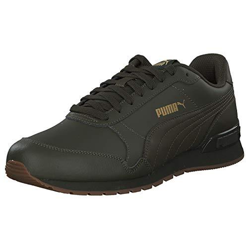 PUMA ST Runner v2 Unisex Lederen Sneaker 365277 10 Groen