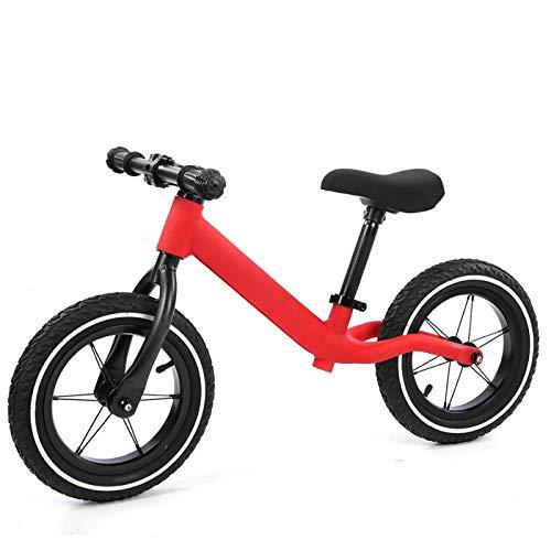 Qqmora Bicicleta de Equilibrio de Metal Super Junior Bicicleta equilibrada para niños para Interiores y Exteriores Cultivando interés(Red)
