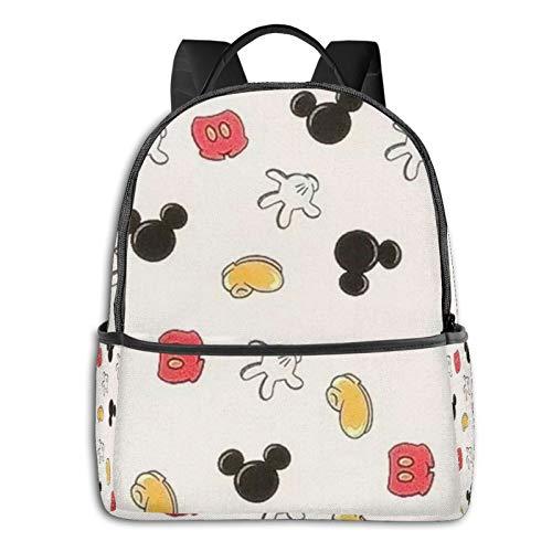 Mickey Cartoon Mouse Anime Moda Lindo Boy Girl Mochila Mochila escolar