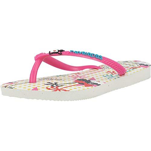 Havaianas Mädchen Disney Cool Flipflop, White/Pink Flux, 35/36