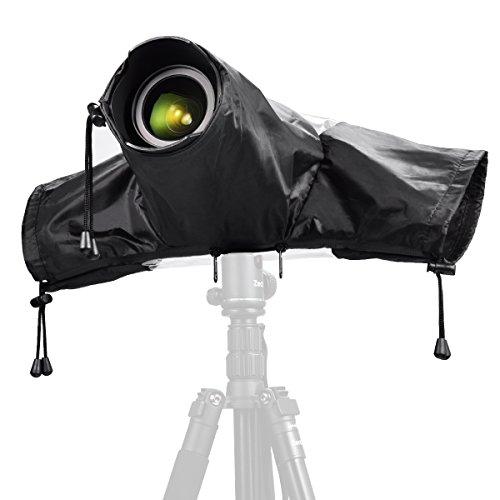 Zecti Regenschutzhülle Wasserdichter Kamera Schutz für Canon und Nikon Spiegelreflex Kameras, Farbe-Schwarz
