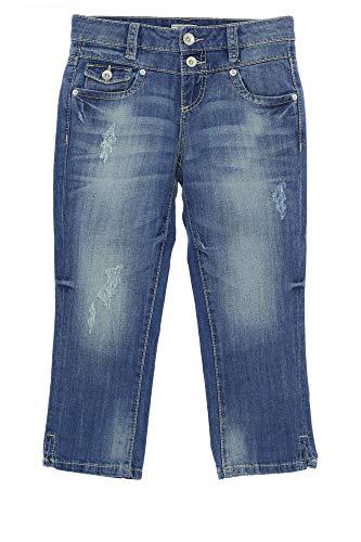 TOM TAILOR Caprijeans Jeans Alexa Slim Damen Stretch, Farbe:blau, Hosengrößen:W26