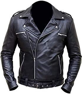 Negan Walking Dead S7 Jeffrey Dean Morgan Black Biker Faux Leather Jacket