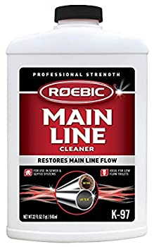 Roebic K-97 Main Line Cleaner Exclusive Biodegradable Bacteria Digests Paper Fats and Grease in Sewer and Septic Systems 32 Ounces