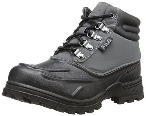 Fila Weathertec - Zapatillas de Senderismo (Talla Little Kid/Big Kid), Color Negro, Talla 11,5 M