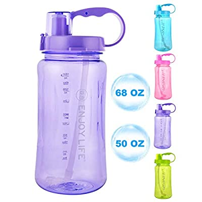 GTI 3L Large Capacity Sports Water Bottle, 3/4 Gallon 102 oz Wide Mouth Portable Big Plastic Bottle Leak Proof Space Cup Travel Mugs with Scale Straw Strap