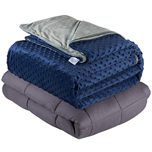 Quility Weighted Blanket for Adults - Queen Size, 60'x80', 20 lbs - Heavy Heating Blankets for...