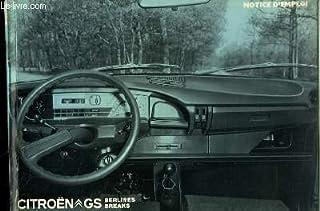 Notice d'Emploi de la Citroën GS, berlines et breaks.