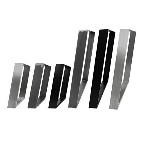2x Natural Goods Berlin Design Tischkufen 80GRAD Neigung Metall schräge Tischbeine Möbelkuven | Tischgestell aus Stahl geneigt | Hairpin Legs (B75 x H72cm (Esstisch/Schreibtisch), Industrial)