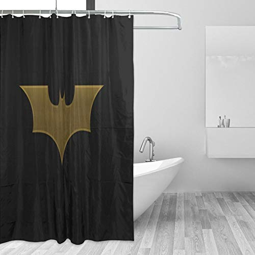 Why So Serious Joker Batman Duschvorhang-Set Badezimmer Dekor mit Haken Wasserdicht Waschbar 167,6 x 182,9 cm
