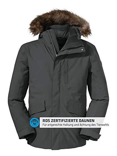 Schöffel Herren Down Jacket Budapest M, warme und atmungsaktive Daunenjacke mit verstellbarer Kapuze, Herren Jacke mit 2-Wege Front Reißverschluss