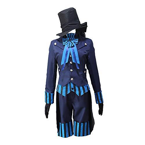 Updayday Ciel Phantomhive Disfraz de Cosplay Anime Black Butler Ciel Phantomhive Disfraz de Cosplay Traje de Uniforme Halloween Disfraz de Fiesta de Carnaval de Halloween, Conjunto Completo.