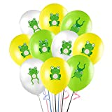30Pcs Frog Balloons, 12' Animal Theme Latex Balloon for Kids Baby Shower Birthday Party Supplies Decorations