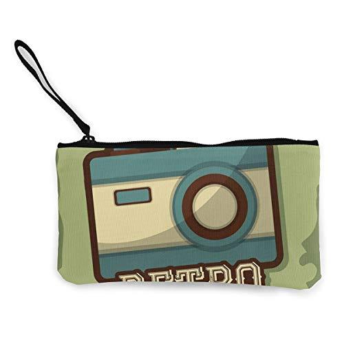 Generic Retro-Kamera-Icon-Geldbörse aus Leinen, für Münzen, Ausweise und andere Münzen