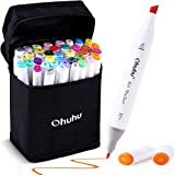 Ohuhu 40-Color Alcohol Marker, Dual Tips Permanent Art Markers for Kids, Highlighter Pen