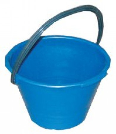 "'Cubo plástico Albañil profesional antinfortunio baumat Azul–Cubo""baumat"" Azul antinfortunio""Safety Plastic Bucket"