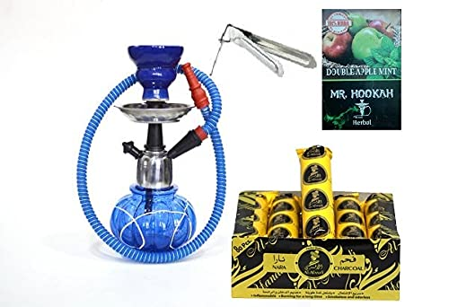 Shopyfy Premium Combo of 12 Inch Hookah, 10 Shisha Magic Charcoal and Premium Hookah Herbal Flavour (Without Tobacco and Nicotine)
