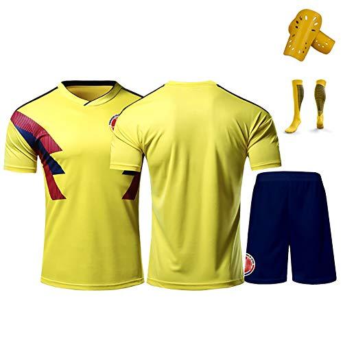 GWCASA Utilizado para Falcao No.9 James No.10 Rodríguez No.11 Cuadrado Colombia Uniforme de fútbol, Personalizado con Cualquier Nombre y número-Custom-M