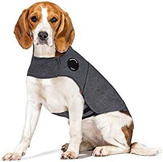 Thunder-US Anti-Anxiety relieves Anxiety Dog Clothes, relieves Stress, Keeps Quiet,Grey (M)