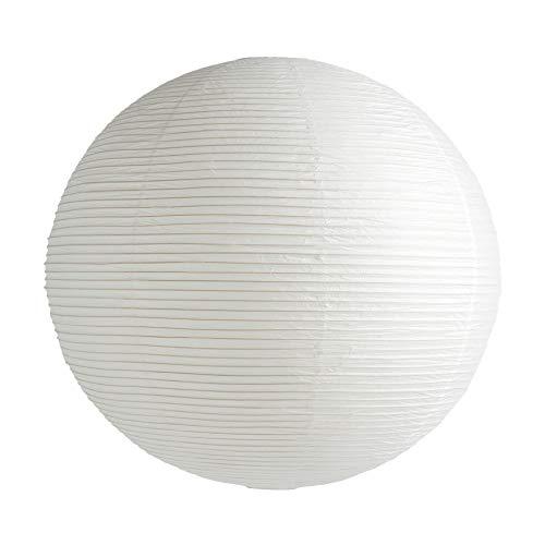 Rice Paper Shade Lampenschirm Ø80cm, klassisches weiß Papier Eisenstruktur ohne Aufhängung