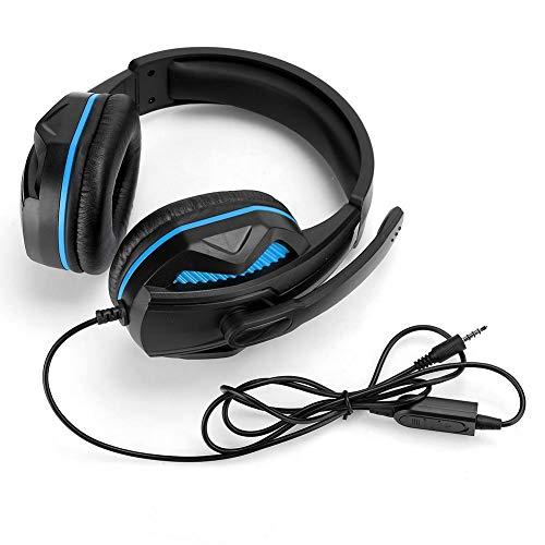 SEZ-881 kabelgebundenes Gaming-Headset – Home Audio On-Ear-Kopfhörer mit Geräuschunterdrückung, 3,5 mm Stereo-Kopfhörer mit Mikrofon, für Xboxone, für PS4 (blau)