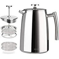 Secura French Press Stainless Steel Insulated Coffee Maker 34-Ounce