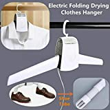 Electric Clothes Drying Rack - Multifunction Portable Shoes Clothes Rack Dry, Cold and Hot Wind Electric...