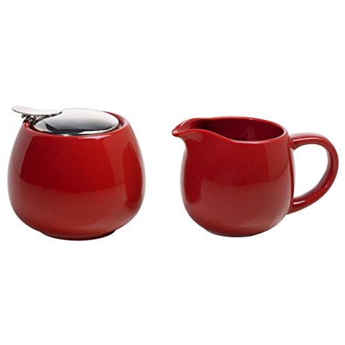 Maxwell & Williams IT20991 InfusionsT Milch und Zucker Set, Geschenkbox, Keramik, rot, 2 Einheiten
