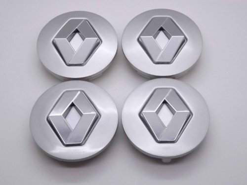 Renault 57 mm Alloy Wheel Centre Caps Hub Emblema Covers Badges/Buje Tapa Llanta Tapa Buje tapas Logo Megane