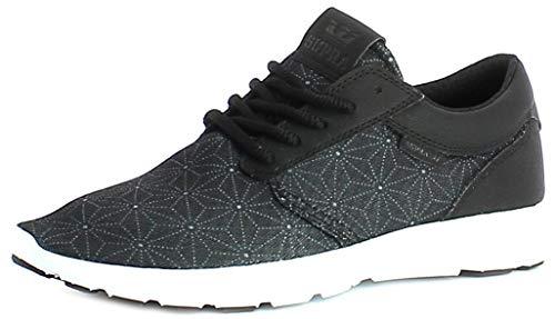 Supra HAMMER RUN Unisex-Erwachsene Sneaker, Schwarz (BLACK - WHITE BLK), 38