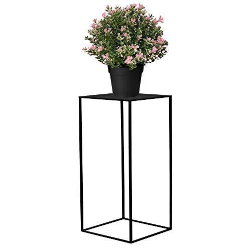 SPRINGOS Blumensäule Pflanzenhocker 40 cm Blumenständer Blumentisch Metall Dekoration Blumentisch Loft Stil Raumgestaltung Haus&Garten (Schwarz)