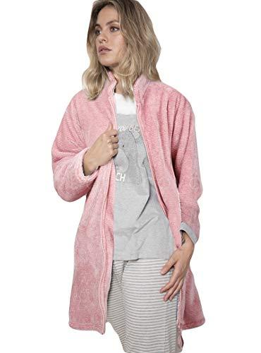 ADMAS - Bata Mujer Polar Mujer Color: Rosa Talla: S