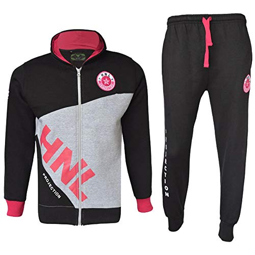A2Z 4 Kids A2Z 4 Kids® Mädchen Designer Trainingsanzug HNL Reißverschluss - T.S HNL Dady Black Pink 9-10