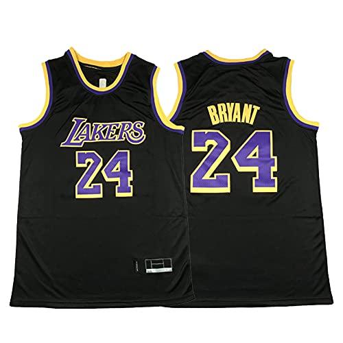 ZGRW Bryant Men's Basketball Jersey, Lakers # 24 Retro Jersey Chalt, 2021 Classic Commemorative Edition Swingman Jersey Bordado Sportswear Black-L