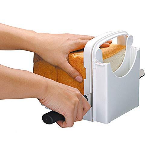 OUKEYI - Affettatrice regolabile, per pane arrosto pane tostato, pieghevole, 5 spessori disponibili