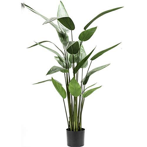 HABITMOBEL Planta Artificial Platano Heliconia 130cm Elegancia y armonía en un Ejemplar de Alto...