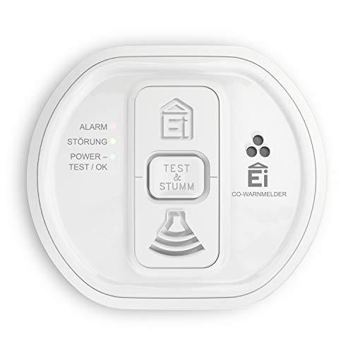 Ei Electronics Professional i-serie Kohlenmonoxidwarnmelder mit fest eingebauter 10-Jahres-Lithiumbatterie, funkvernetzbar mit Funkmodul Ei200MRF, weiß, Ei208iW - 3XD