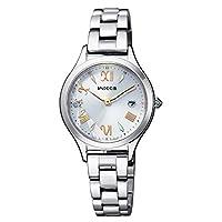 [シチズン] 腕時計 ウィッカ ソーラーテック電波時計 「虹色のプリズム」春限定モデル 2,000本限定 ホワイトレザーの替えバンド付 KS1-210-11 レディース シルバー