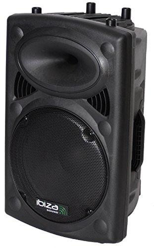 "Ibiza SLK12A-BT - Bafle Profesional Activo de 12""/30 cm 700 W con USB-Mp3 y Bluetooth, Negro"