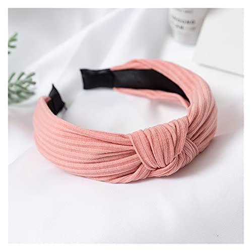 ZHEMAIE Cintas de Pelo Lady Flower Hoop Hoop Nudo Impresión Diadema Elástica Accesorios para el Pelo Elástico para Las Mujeres Color Sólido Punto Making Fabricando Haarband (Farbe : ZZFG5)